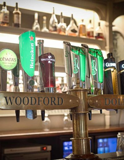 Drink selection at the Woodford Dolmen Hotel